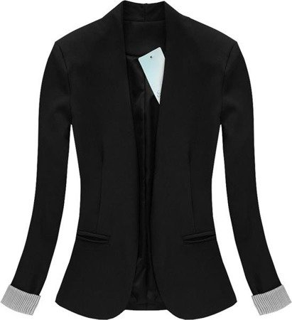 DINNER JACKET WITH STRIPED CUFF BLACK (0969/2)