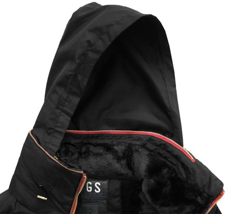 QUILTED HOODED JACKET BLACK (WZ571)