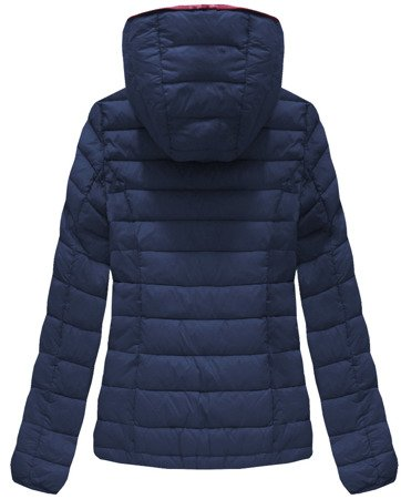 QUILTED HOODED JACKET NAVY BLUE (7107A)