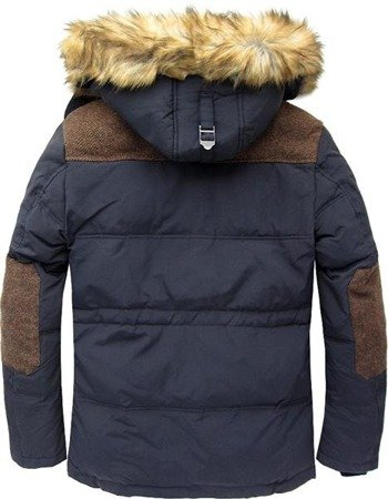 NATURAL DOWN WINTER JACKET NAVY BLUE (5005)