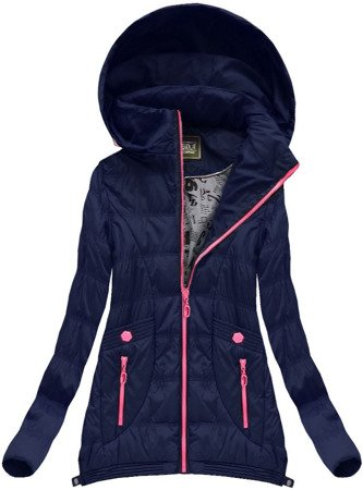EXTENDED SIDES JACKET NAVY BLUE (W717)