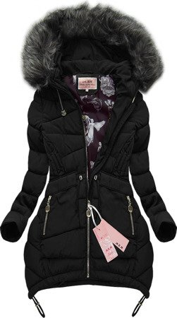 HOODED QUILTED JACKET BLACK (W502)