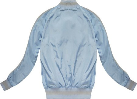 BOMBER JACKET WITH BADGES BABY BLUE (XW556X)