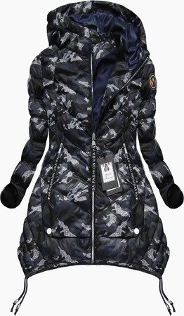 ARMY PRINTED QUILTED JACKET NAVY BLUE (1717)