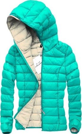 QUILTED HOODED JACKET MINT (7092)