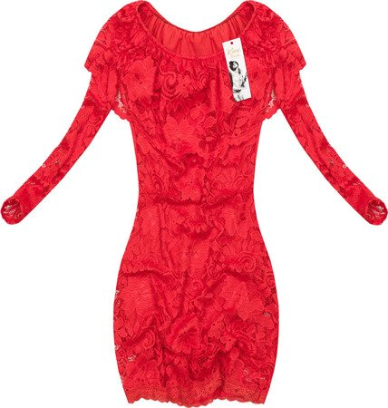 LACE DRESS RED (NICCOLO)