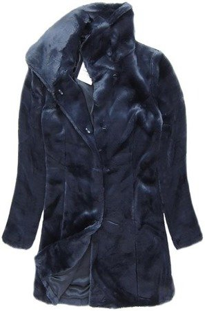 IMITATION FUR COAT NAVY BLUE (7622)