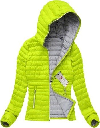 QUILTED JACKET LIME (21611)