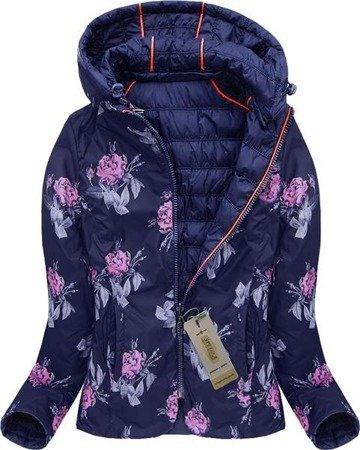 REVERSIBLE HOODED JACKET NAVY BLUE (W709)