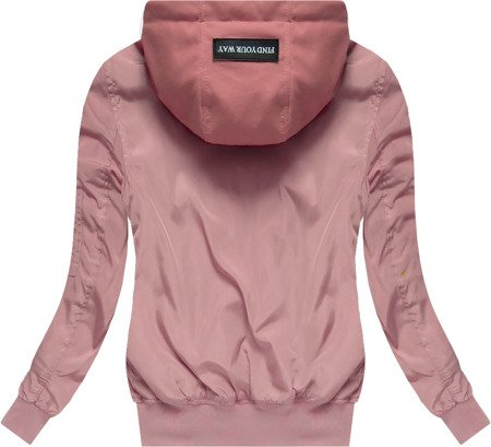 HOODED BOMBER JACKET PINK (W02)