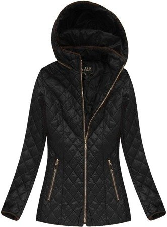 QUILTED HOODED JACKET BLACK (7056)