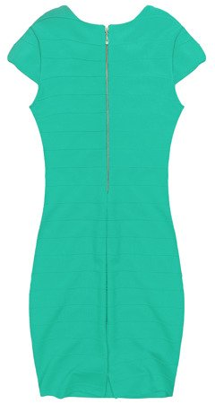 ZIP BACK BANDAGE DRESS TEAL (210F)