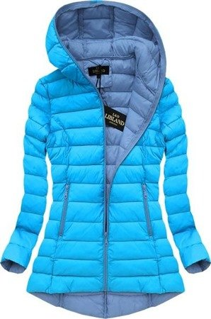 HOODED QUILTED JACKET TURQUOISE (7152)