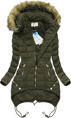 HOODED QUILTED JACKET OLIVE (3502W)
