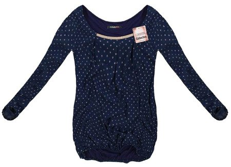 TOP WITH GLITTER DETAIL NAVY BLUE (69100)