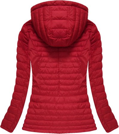 HOODED QUILTED JACKET RED (W566-1)