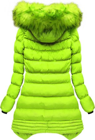 HOODED QUILTED JACKET LIME (W810BIG)