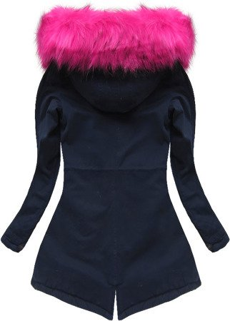 WINTER COTTON PARKA NAVY BLUE+PINK (7599)