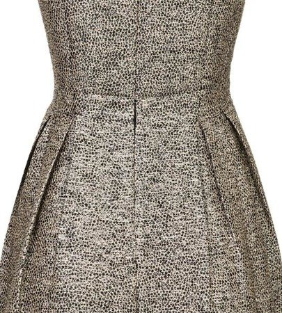 SHIMMERY DRESS BLACK+GOLD (R263)