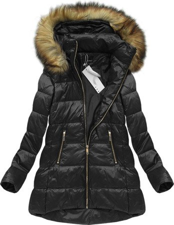NATURAL DOWN QUILTED JACKET BLACK (8070)
