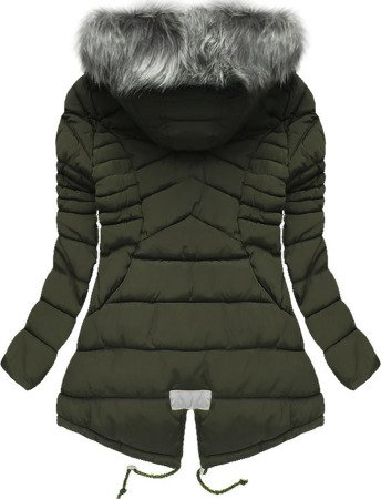 SHORT HOODED QUILTED JACKET KHAKI (W826)