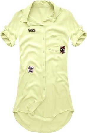 LONGLINE SHIRT WITH BADGES YELLOW (6233)