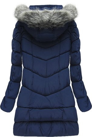 HOODED QUILTED JACKET NAVY BLUE (W522)