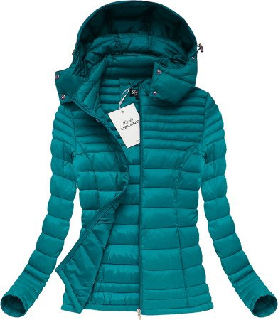 HOODED QUILTED JACKET TEAL (7116)