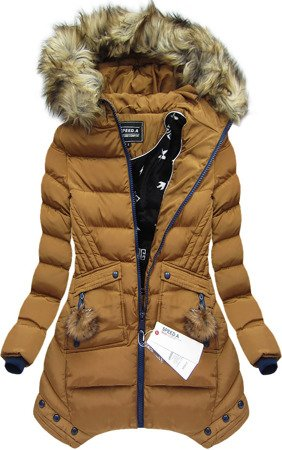 HOODED QUILTED JACKET CARAMEL (W810)
