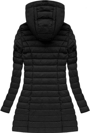 HOODED QUILTED JACKET BLACK (7153)