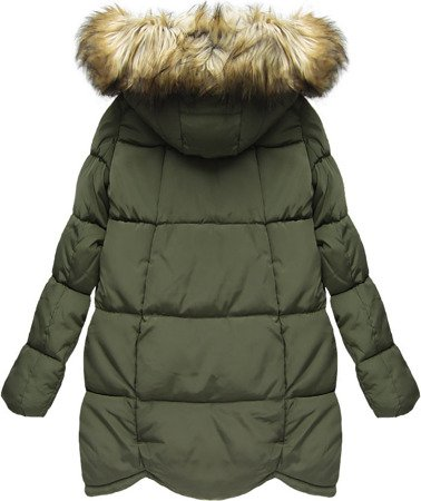 HOODED QUILTED JACKET KHAKI (W801)