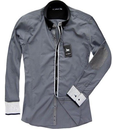 REGULAR FIT SHIRT PEWTER (2508/2)