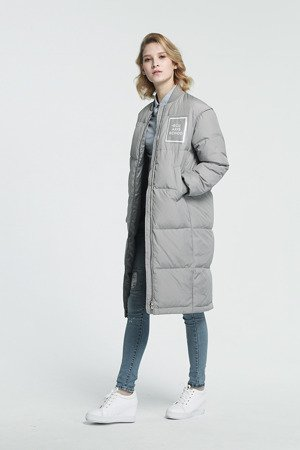 NATURAL DOWN WINTER COAT GREY (8068)