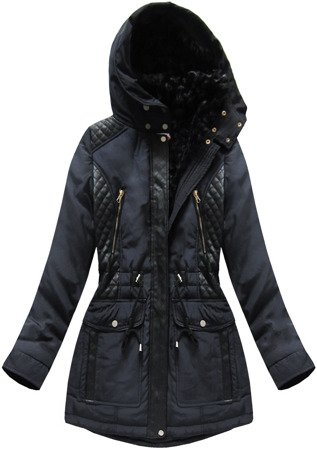 HOODED JACKET NAVY BLUE (3302W)