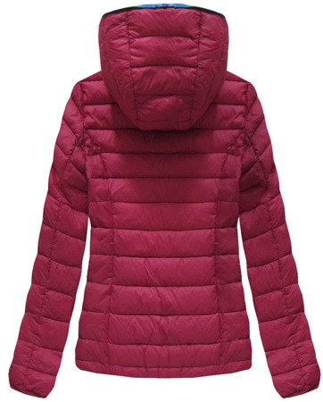 QUILTED HOODED JACKET WINE (7107A)