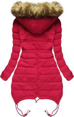HOODED QUILTED JACKET RED (3502W)