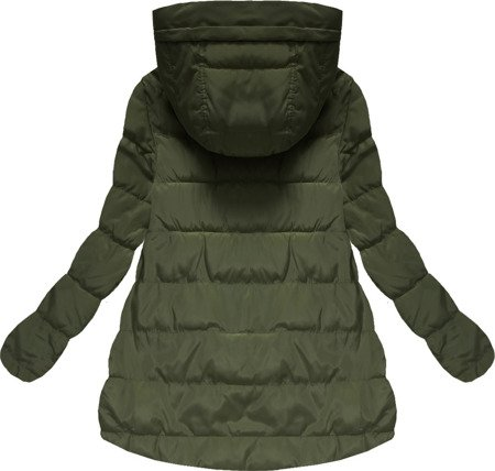 HOODED QUILTED JACKET KHAKI (W586)