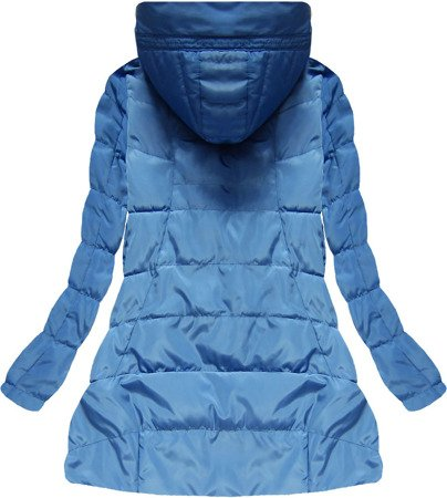 HOODED QUILTED JACKET BLUE (1720)