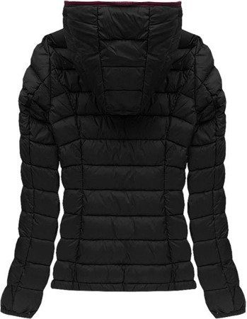 QUILTED HOODED JACKET BLACK (7107A)