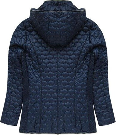 HOODED QUILTED JACKET NAVY BLUE (7029BIG)