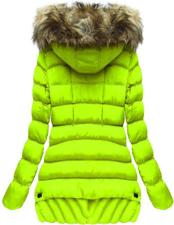 HOODED QUILTED JACKET LIME (W819)