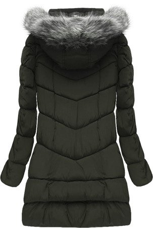 HOODED QUILTED JACKET KHAKI (W522)
