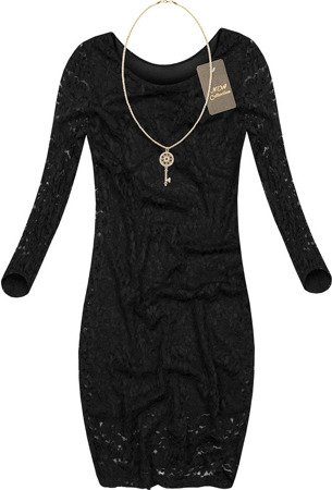 LACE DRESS WITH NECKLACE BLACK (LIAN)