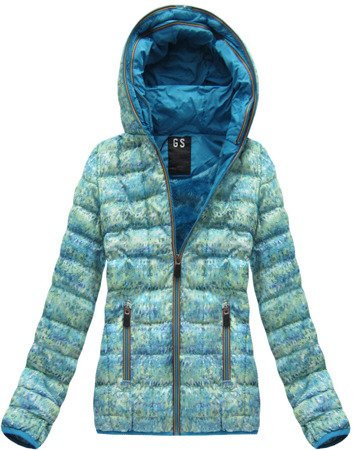 SHORT QUILTED JACKET GREEN-BLUE (MC01)