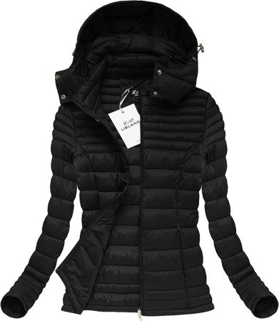 HOODED QUILTED JACKET BLACK (7116)