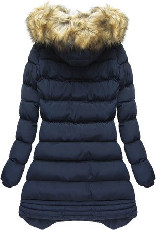 HOODED QUILTED JACKET NAVY BLUE (W810)