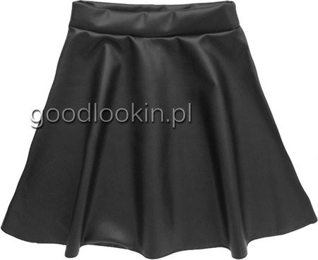 ECO LEATHER SKIRT BLACK (SPC-21)