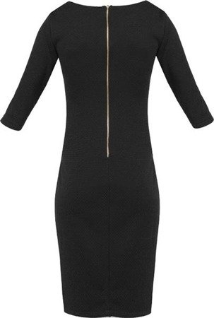 KEYHOLE NECKLINE DRESS BLACK (S123)