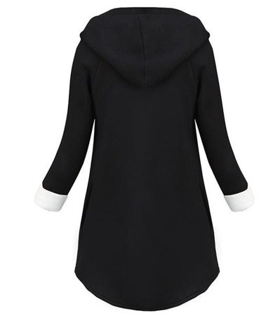 NEOPRENE HOODED BLAZER BLACK+WHITE (8008-1)