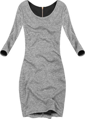 ZIP BACK DRESS GREY (16273)